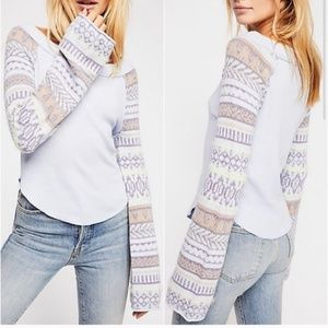 NWT Free People Fairground Thermal Top Sweater